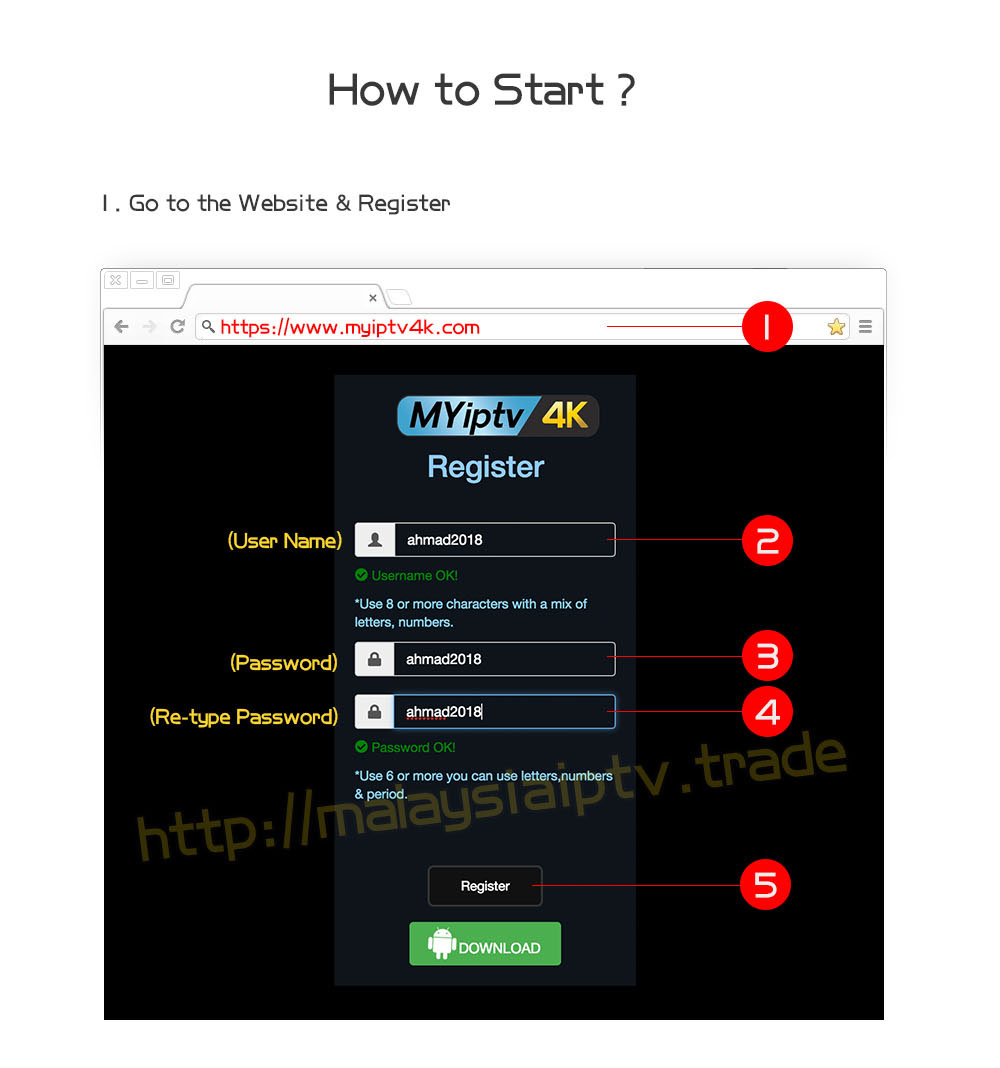 How to Register Myiptv 4K Account ? – malaysiaiptv trade